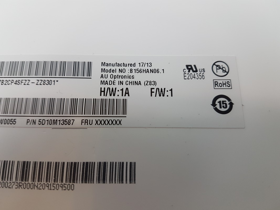 Dalle FHD d'origine pour Lenovo Y520-15IKBN