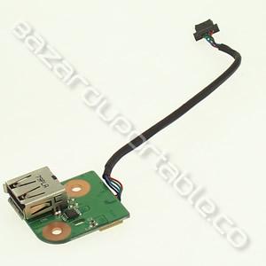Carte USB fille (en bas à droite) AVEC le câble de liaison à la carte mère soudé dessus pour HP pavilion DV9000